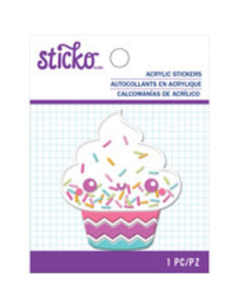 Sticko Acrylic Sticker Cupcake