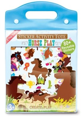 The Piggy Story Sticker Activity Tote Horse Play