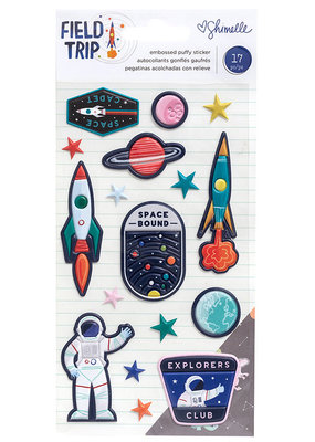 Shimelle Embossed Puffy Sticker Space