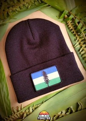 Toketee Beanie Black with Cascadia Patch