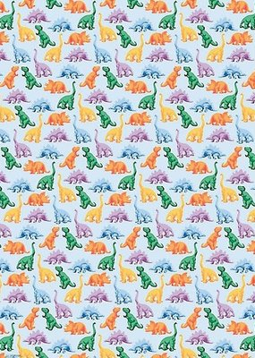 Waste Not Wrap Sheet Colorful Dinosaurs