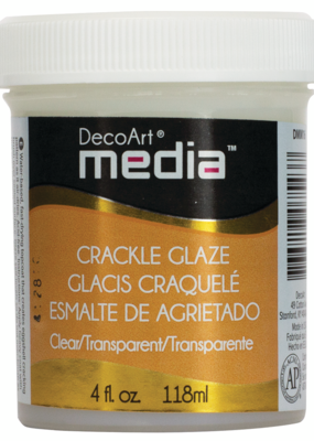 DecoArt Media Crackle Glaze 4 oz. Clear