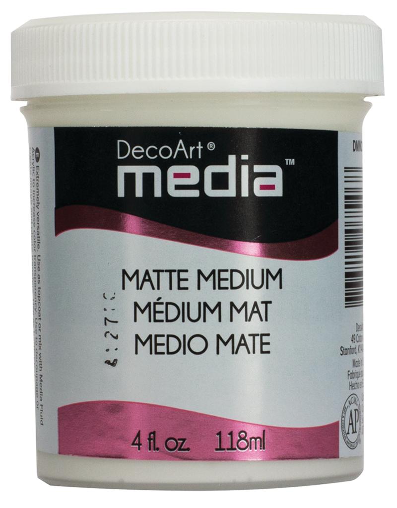 DecoArt Media Matte Medium 4 oz. Clear