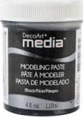 DecoArt Media Modeling Paste 4 oz. Black