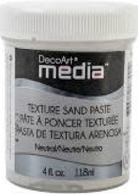DecoArt Media Texture Sand Paste 4 oz. White