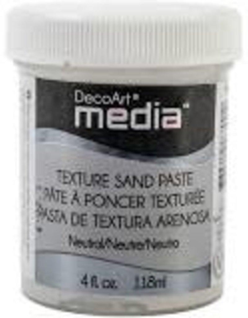 DecoArt Media Texture Sand Paste 4 oz. White