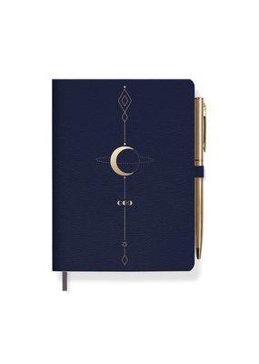Fringe Moon Journal Blue Gold With Pen