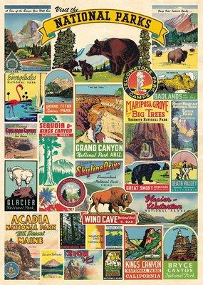 Cavallini Wrap Sheet National Parks