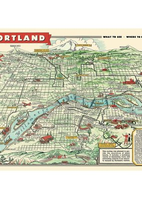 Cavallini Papers & Co. Cavallini Posters Portland Map