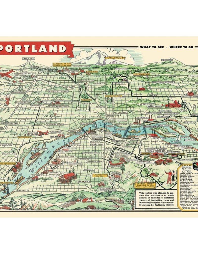 Cavallini Cavallini Posters Portland Map