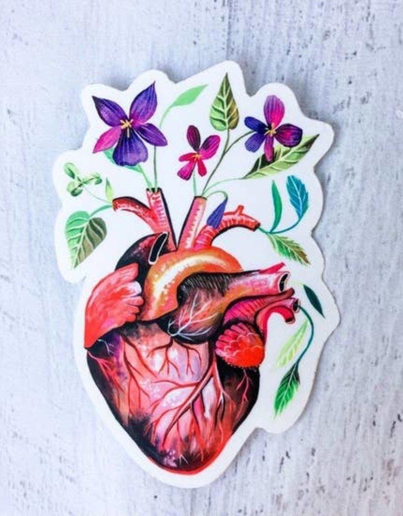 Katie Daisy Sticker Garden Heart