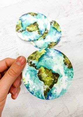 Katie Daisy Sticker Earth
