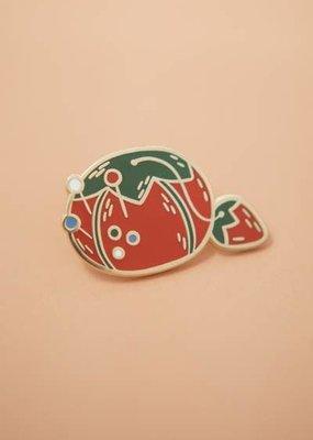Justine Gilbuena Enamel Pin Tomato Pin Cushion