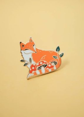 Justine Gilbuena Enamel Pin Fox in Forest