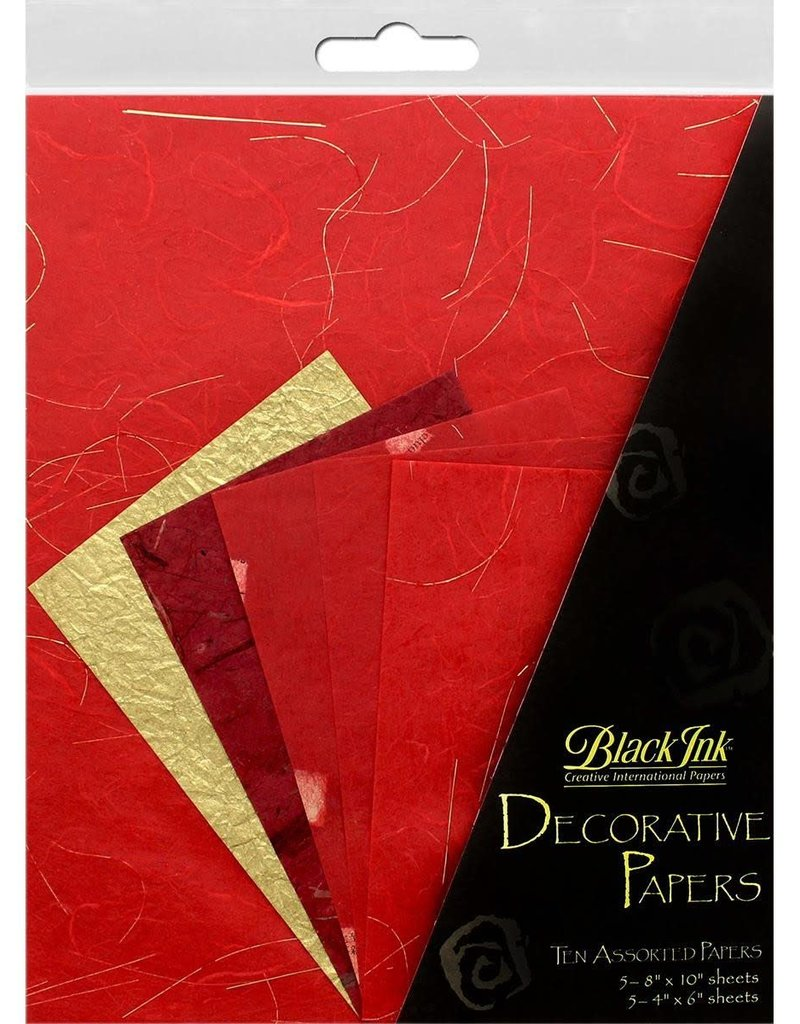 Graphic Products Black Ink Decorative Papers Reds 10pc