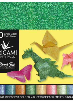 Black Ink Decorative Papers Decorative Origami Papers Iridescent