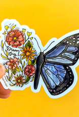 KPB Designs Sticker Flower Butterfly