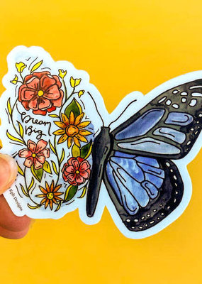 KPB Designs Sticker Flower Butterfly