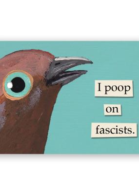 Mincing Mockingbird Vinyl Sticker Poop On Fascists