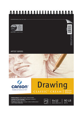 Canson Drawing Pad Classic Cream 9 x 12