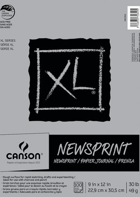 Canson XL Newsprint Paper Pad 100 Sheet Pad 9 x 12