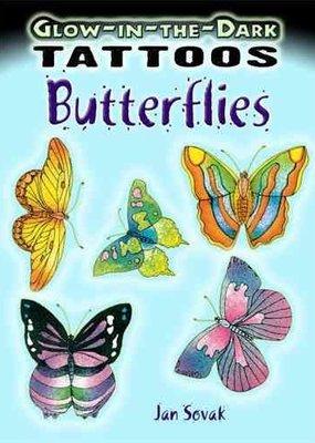 Dover Tattoos Glow-in-the-Dark Butterflies