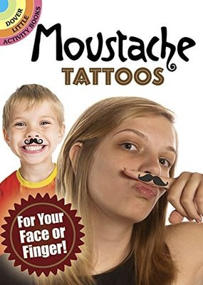 Dover Tattoos Moustache For Your Face or Finger!