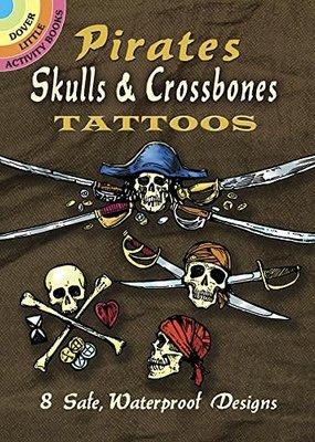 Dover Tattoos Pirate Skull X-Bones