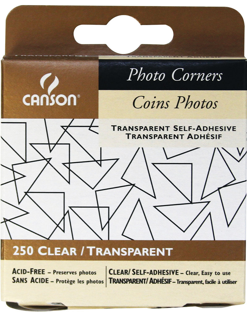 Canson Photo Corners Clear Adhesive 250 Pack