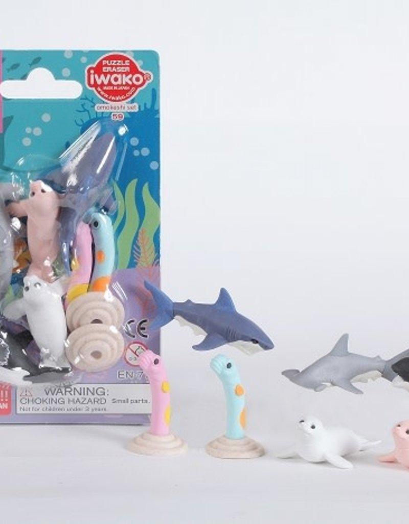 Iwako Ocean Eraser Set
