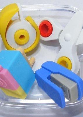 School Box Eraser Set