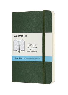 Moleskine Moleskine Classic Soft Cover Dotted Pocket Myrtle Green