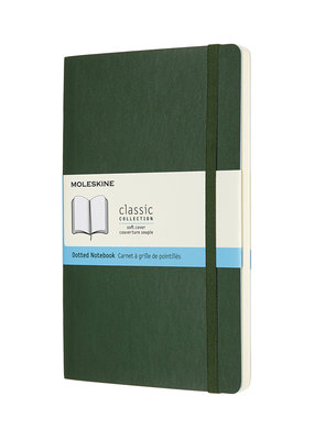Moleskine Moleskine Classic Soft Cover Dotted Large Myrtle Green