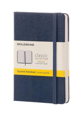 Moleskine Moleskine Classic Hard Cover Squared Pocket Sapphire Blue