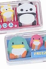 Cute Erasers in a Case