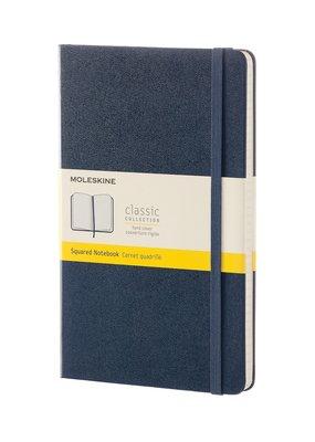 Moleskine Moleskine Classic Hard Cover Squared Large Sapphire Blue