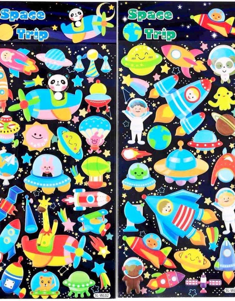 Sticker Puffy Space Trip