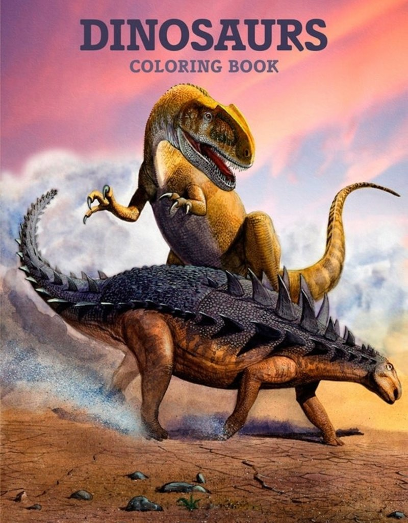 Pomegranate Coloring Book Dinosaurs