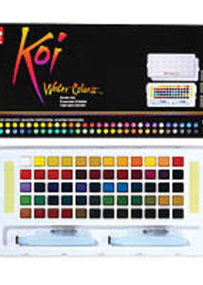 Sakura Koi Watercolors Studio Sketch Box Set 60 Colors With 2 Brushes