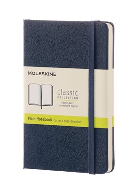 Moleskine Moleskine Classic Hard Cover Plain Pocket Sapphire Blue