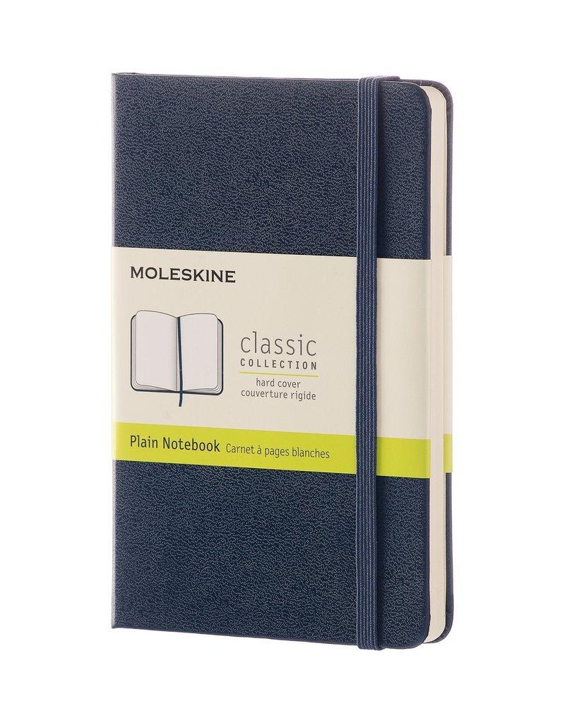 Moleskine Moleskine Classic Hard Cover Plain Pocket Sapphire Blue