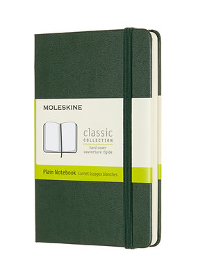 Moleskine Moleskine Classic Hard Cover Plain Pocket Myrtle Green