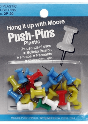 Moore Push Pin Plastic Assorted Color