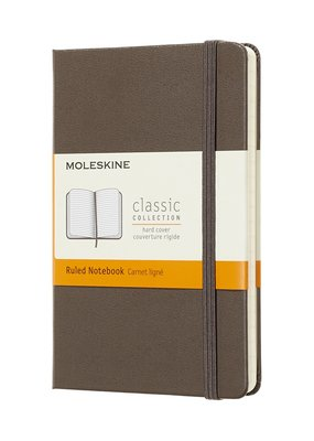 Moleskine Moleskine Classic Hard Cover Ruled Pocket Earth Brown