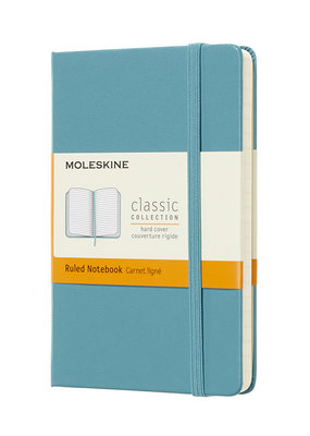 Moleskine Moleskine Classic Hard Cover Ruled Pocket Reef Blue