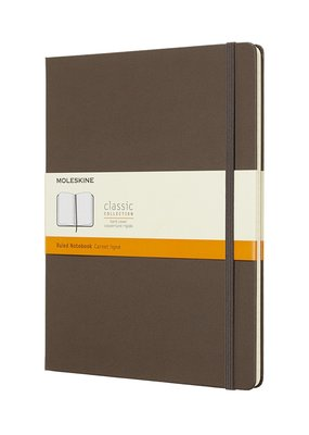 Moleskine Moleskine Classic Hard Cover Ruled Extra Large Earth Brown