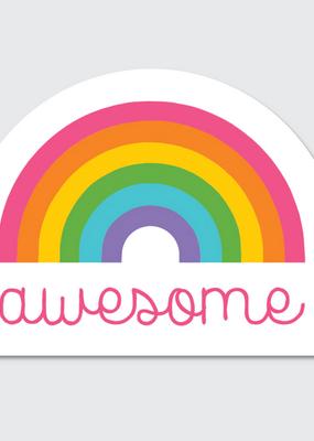 Rock Scissor Paper Sticker Awesome Rainbow