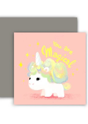 The Little Red House Mini Card Magical Unicorn