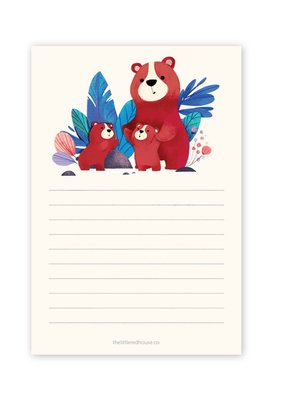 The Little Red House Notepad Lined Bear Family