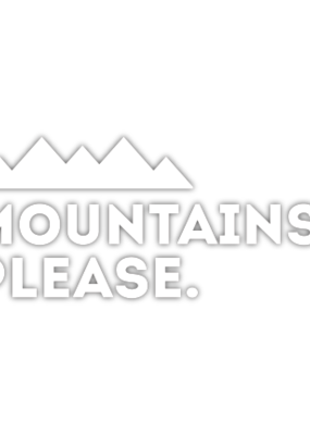 Sticker Diecut Mountains, Please White